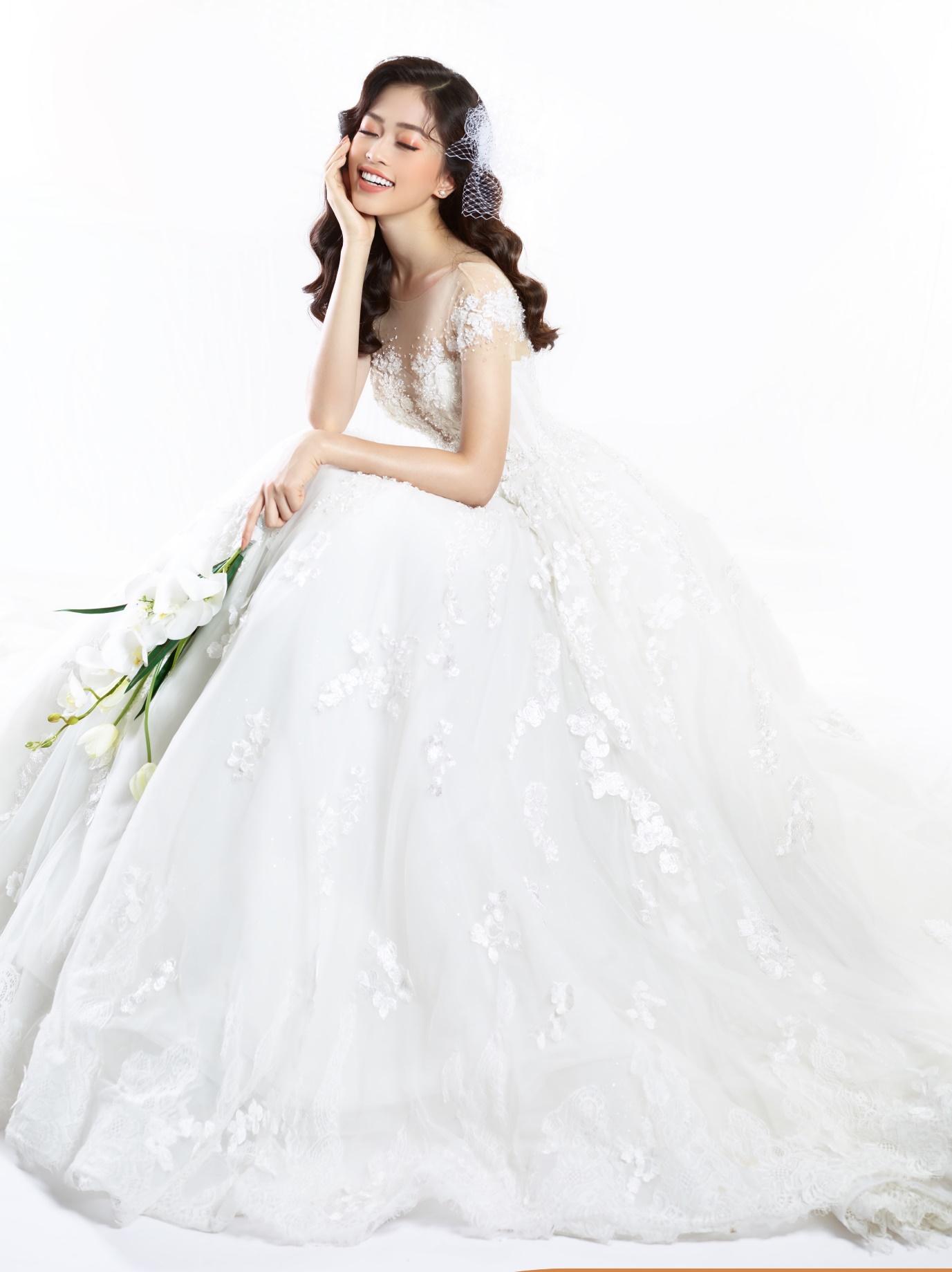 Ngắm Á hậu Bùi Phương Nga đẹp ngẩn ngơ trong BST váy cưới - Ảnh 5.