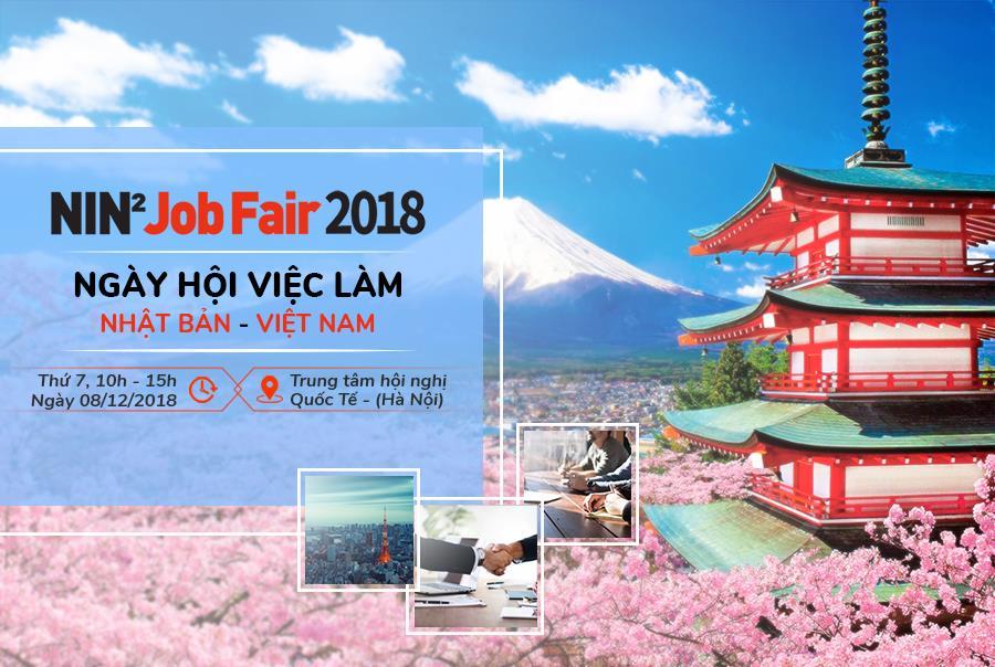Ngày hội việc làm Nhật Bản NIN2 JOB FAIR 2018 trở lại với hơn 30 doanh nghiệp hàng đầu Nhật Bản - Ảnh 1.