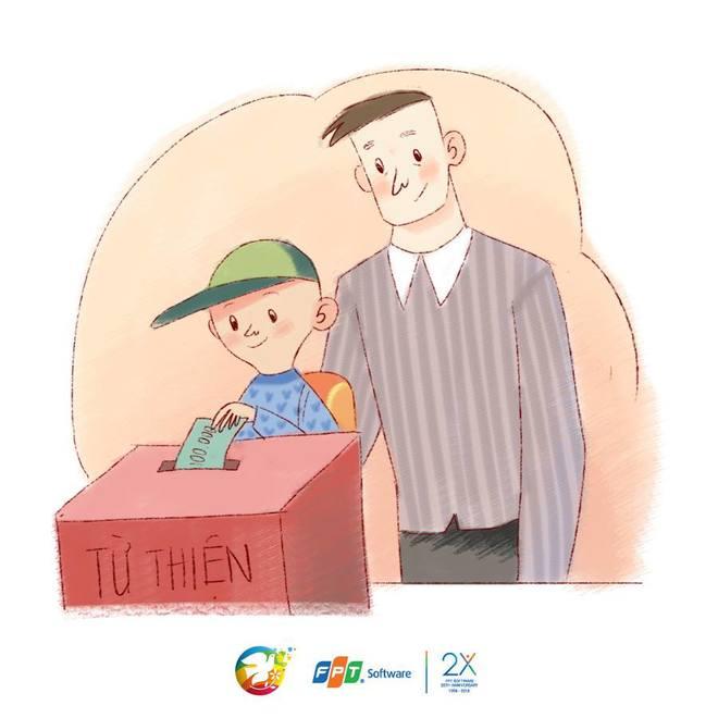 """Bộ tranh """"Cả cuộc đời con thu bé lại chỉ bằng những chăm lo thầm lặng của bố"""" - Ảnh 9."""