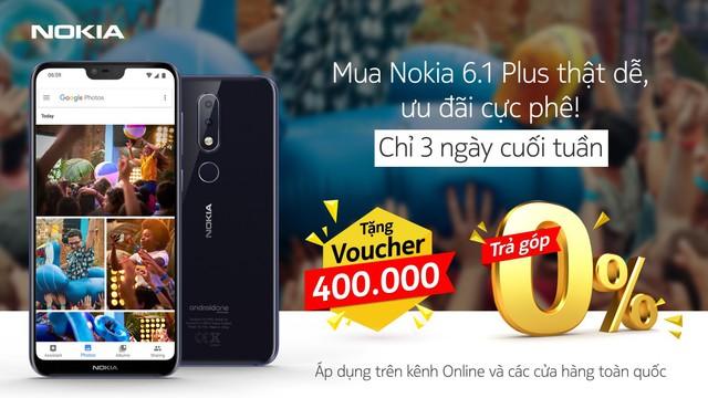 100% cơ hội trúng thưởng khi mua Nokia 6.1 Plus vào dịp cuối tuần - Ảnh 1.
