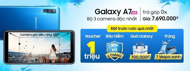Bộ 3 camera Galaxy A7 thần thánh cỡ nào mà dân tình đua nhau đặt trước trên Thế Giới Di Động? - Ảnh 1.