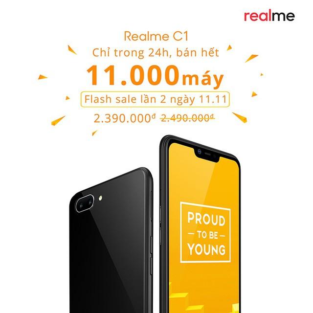"""Đạt hơn 11.000 máy chỉ trong 1 ngày, Realme C1 chính thức """"xô đổ"""" kỷ lục của OPPO F9 - Ảnh 1."""