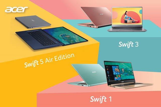 """Hiệu quả vượt trội với dòng laptop """"siêu mỏng, siêu nhẹ"""" Acer Swift Series - Ảnh 2."""
