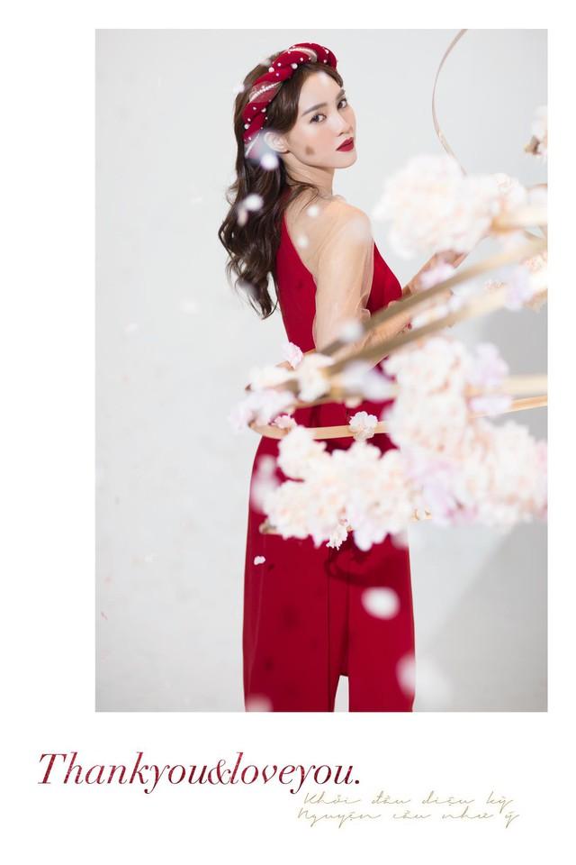 """""""Gái già"""" Ninh Dương Lan Ngọc khiến fan mãn nhãn với vẻ quyến rũ trong tà áo dài truyền thống đón Tết - ảnh 8"""