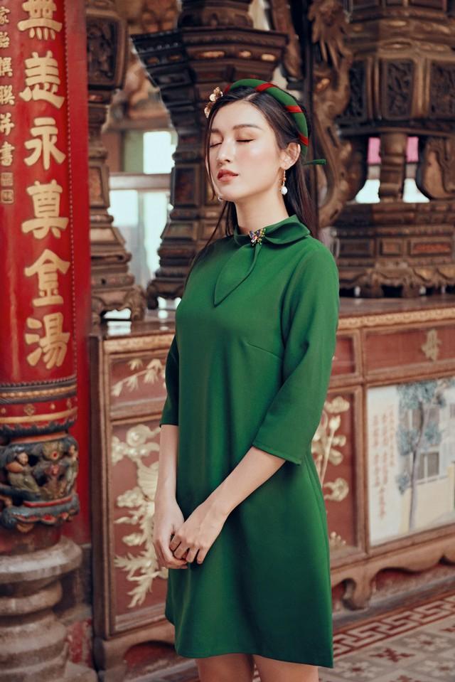 Huyền My đẹp mơ màng trong tà áo dài của Oceana London - ảnh 8