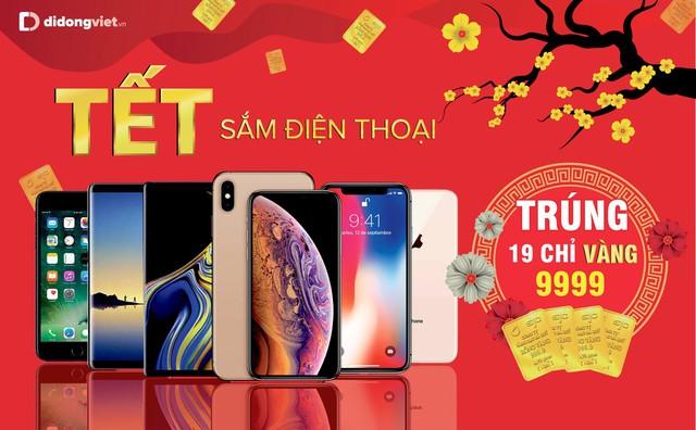 Mua iPhone 7 Plus, 8 Plus, X và Xs Max trúng 19 chỉ vàng 9999 tại Di Động Việt - Ảnh 1.