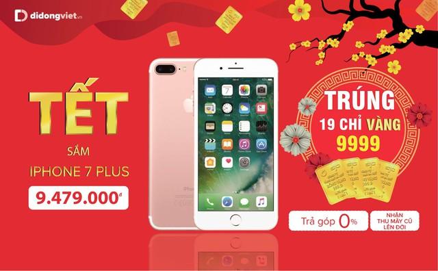 Mua iPhone 7 Plus, 8 Plus, X và Xs Max trúng 19 chỉ vàng 9999 tại Di Động Việt - Ảnh 2.