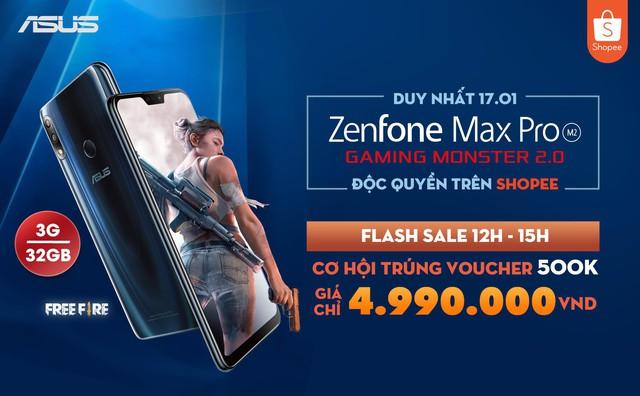 """Sở hữu """"quái vật Gaming"""" ASUS ZenFone Max Pro (M2) cấu hình như mơ với giá bất ngờ - Ảnh 1."""