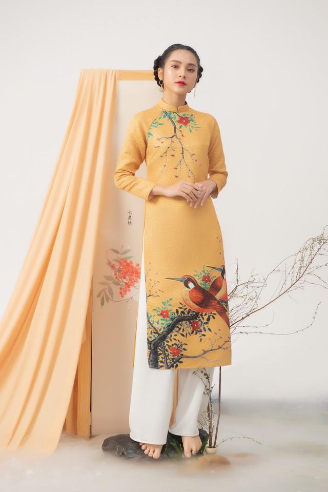 Uyển Đình - Khắc họa cánh én trên tà áo dài Xuân 2019 - Ảnh 8.