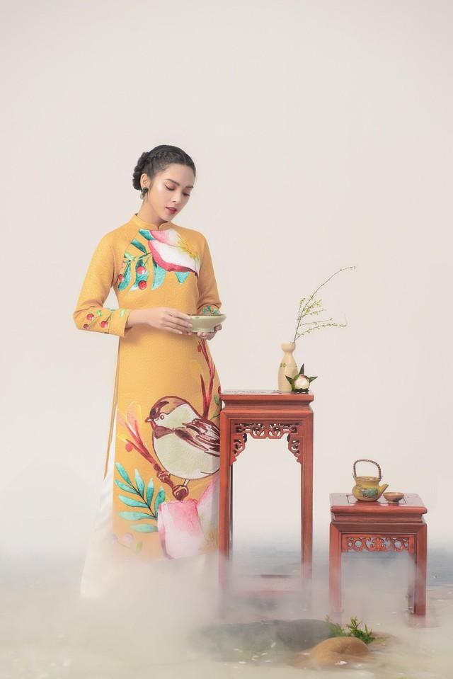 Uyển Đình - Khắc họa cánh én trên tà áo dài Xuân 2019 - Ảnh 10.