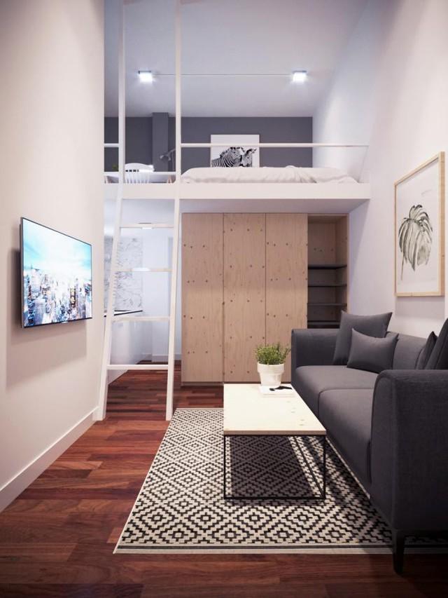 5 kiểu căn hộ mini hiện đại nhìn là thích ngay - Ảnh 2.