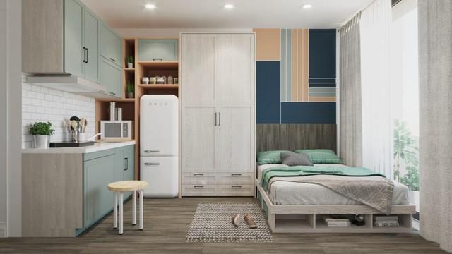 5 kiểu căn hộ mini hiện đại nhìn là thích ngay - Ảnh 8.