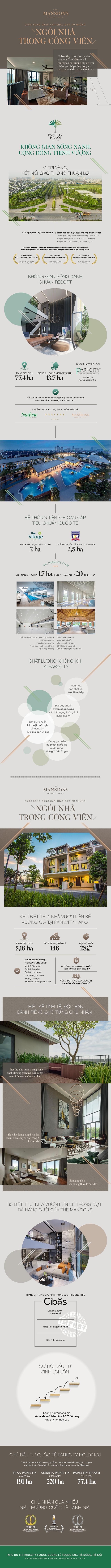 The Mansions ParkCity Hanoi - Cuộc sống đẳng cấp khác biệt từ những ngôi nhà trong công viên - Ảnh 1.