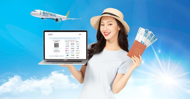 Mua vé BamBoo Airways thanh toán qua quét mã VNPAY-QR vừa hiện đại vừa tiết kiệm - Ảnh 1.
