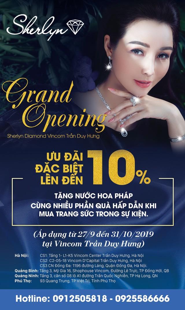 Sherlyn Diamond chính thức khai trương showroom thứ năm tại Vincom Trần Duy Hưng - Ảnh 2.
