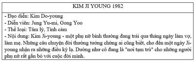 """""""Kim Ji-Young 1982"""": bom tấn tình cảm đáng mong chờ của cặp đôi Gong Yoo - Jung Yoo Mi - ảnh 5"""
