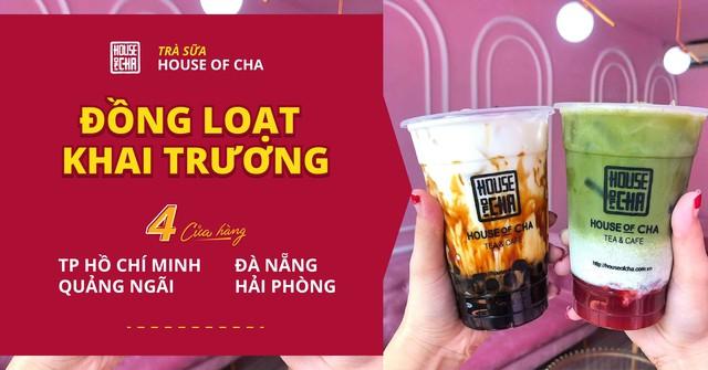 Chuỗi trà sữa House of Cha đồng loạt khai trương 4 cửa hàng tại TP. Hồ Chí Minh và các tỉnh trên toàn quốc - Ảnh 1.