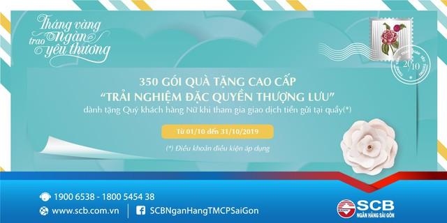 SCB ưu đãi trọn tháng 10 nhân ngày Phụ nữ Việt Nam - Ảnh 1.