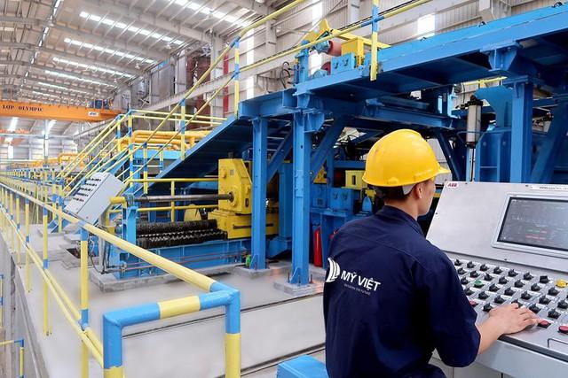 Nhà máy Mỹ Việt đạt công suất 500.000 tấn tôn thép Olympic một năm - Ảnh 1.