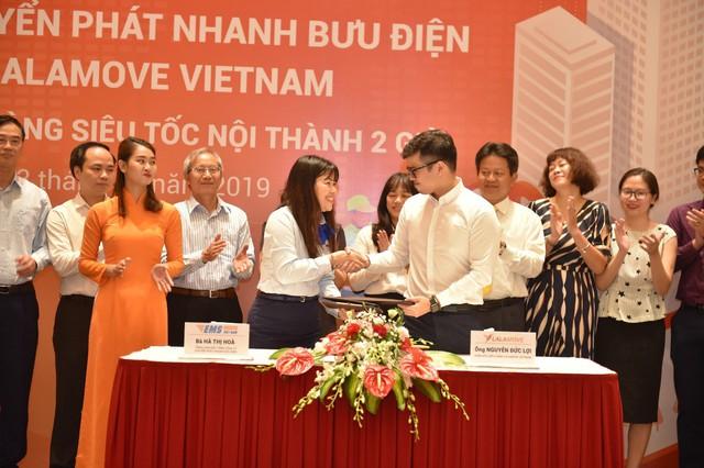 EMS hợp tác với Lalamove Việt Nam triển khai dịch vụ giao hàng nhanh - Ảnh 1.