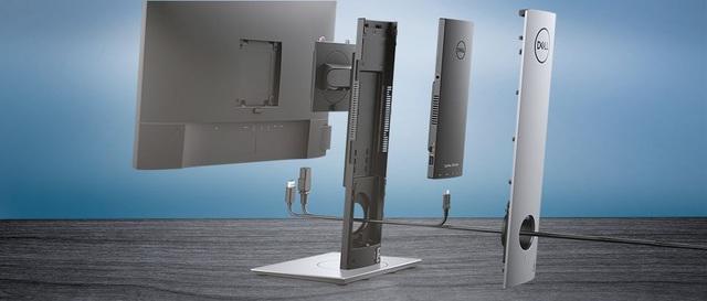 Dell Optiplex 7070 Ultra: Chiếc PC siêu mini nằm vừa trong chân đế màn hình - Ảnh 1.