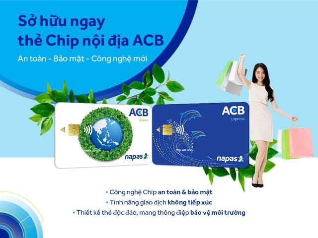 ACB triển khai toàn hệ thống thẻ chip nội địa mang thông điệp bảo vệ môi trường - Ảnh 2.