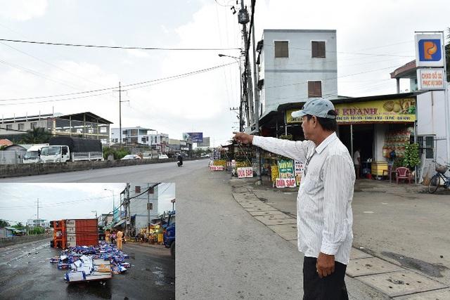Anh Thảnh kể về tai nạn lật xe chở bia trên đoạn đường đi làm hàng ngày của mình (Ảnh minh họa vụ tai nạn: Internet)