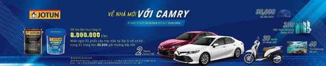 Cơ hội trúng ôtô trong chương trình Về nhà mới với Camry của Jotun - Ảnh 1.