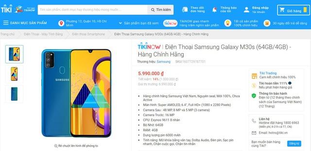 """Cơ hội cuối rinh ưu đãi giảm 1 triệu cho Galaxy M30s, sản phẩm từng """"cháy"""" 3.000 máy chỉ trong 1 tiếng rưỡi! - Ảnh 1."""