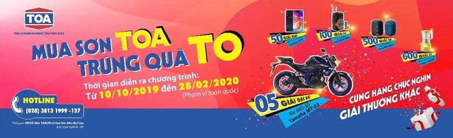 """Sơn Toa trao giải cho khách hàng trúng xe mô tô trong chương trình """"Mua Sơn Toa, trúng quà to"""" - Ảnh 1."""