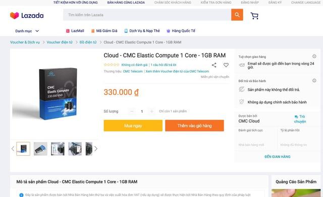 """CMC Telecom bất ngờ """"lên kệ"""" sàn Thương mại điện tử với dịch vụ CMC Cloud - Ảnh 1."""