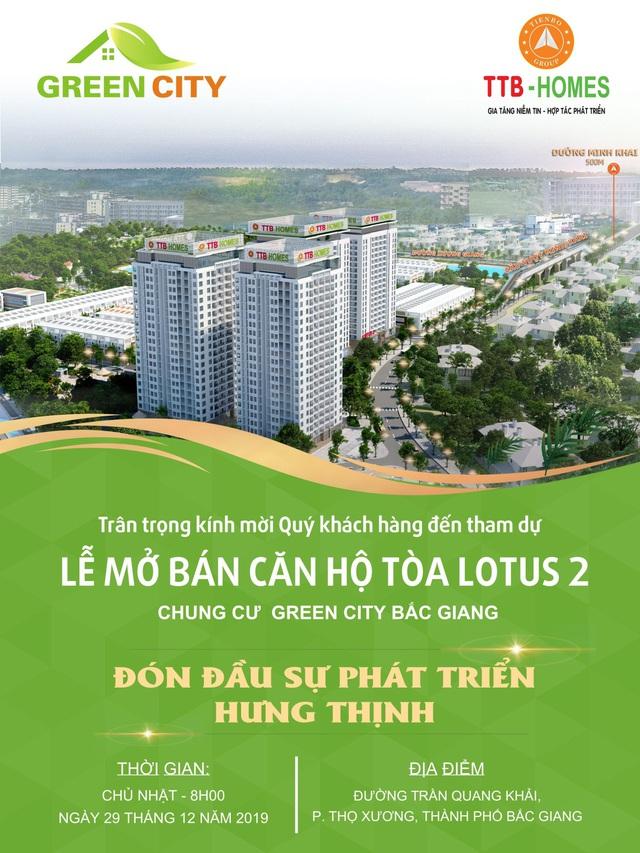 Green City Bắc Giang mở bán quỹ hàng đặc biệt vào cuối năm - Ảnh 1.