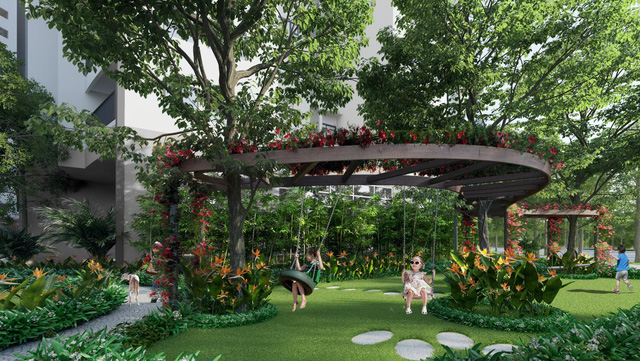 Le Grand Jardin cách quận Hoàn Kiếm 10 phút, 3PN giá chỉ từ 2,1 tỷ - Ảnh 1.