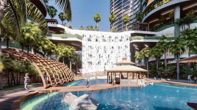 Tổ hợp resort hơn 1 tỷ USD có sông nhân tạo, thác nước và vườn nhiệt đới tiếp cận thềm căn hộ tại quận 7 - Ảnh 3.
