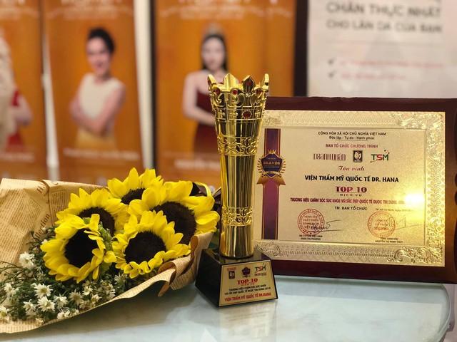 Dr. Hana chinh phục giải thưởng Top 10 thương hiệu Quốc tế chăm sóc sức khỏe và sắc đẹp được tin dùng 2019 - Ảnh 1.