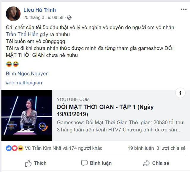 """Sau """"Đối mặt thời gian"""" Liêu Hà Trinh đăng status tỏ thái độ - Ảnh 4."""