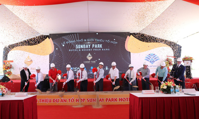 Tập đoàn Crystal Bay cùng đối tác động thổ và giới thiệu dự án tổ hợp nghỉ dưỡng 4.500 tỉ đồng Ninh Thuận - Ảnh 1.
