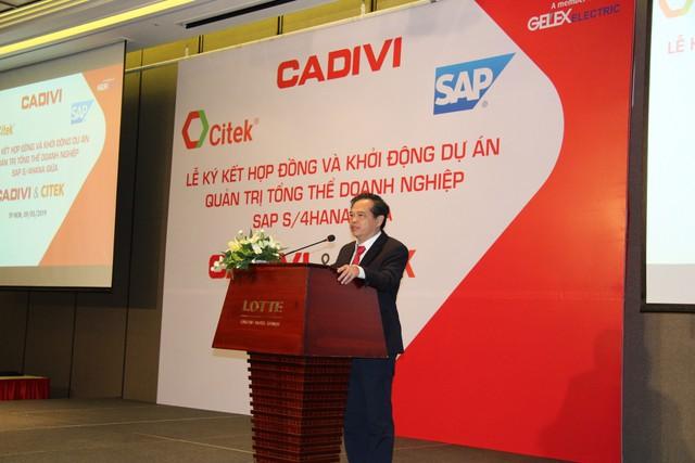 CADIVI đầu tư 2 triệu USD triển khai giải pháp hoạch định tổng thể nguồn lực doanh nghiệp SAP - Ảnh 1.