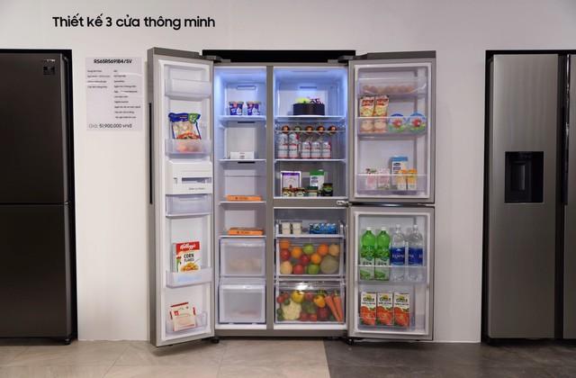 Samsung ra mắt tủ lạnh Side by Side RS5000: Thiết kế sang trọng, công nghệ mới tăng dung tích giữ lạnh ở mọi góc - Ảnh 4.