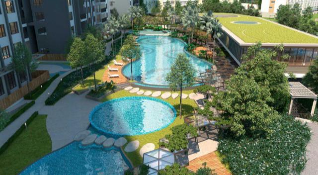 Sống giữa thiên nhiên tại 'Đô thị vườn nhiệt đới' Palm Garden - Ảnh 1.