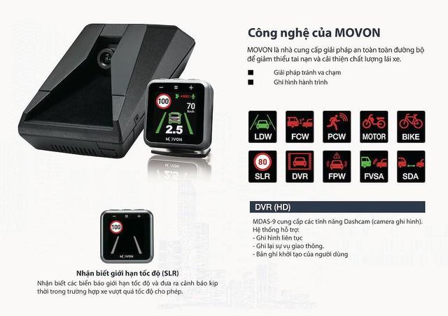"""Movon MDAS-9 - Hệ thống hỗ trợ lái xe tiên tiến với giá """"mềm"""" tới Việt Nam - Ảnh 2."""
