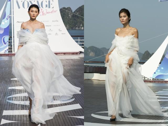 Trên sàn catwalk du thuyền 5 sao, BST từ cảm hứng thời trang thuần khiết lên ngôi trong sự choáng ngợp, mãn nhãn - ảnh 5