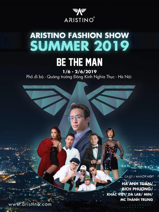 Aristino tổ chức fashion show tại phố đi bộ Hà Nội với chủ đề 'Be the man' - Ảnh 1.