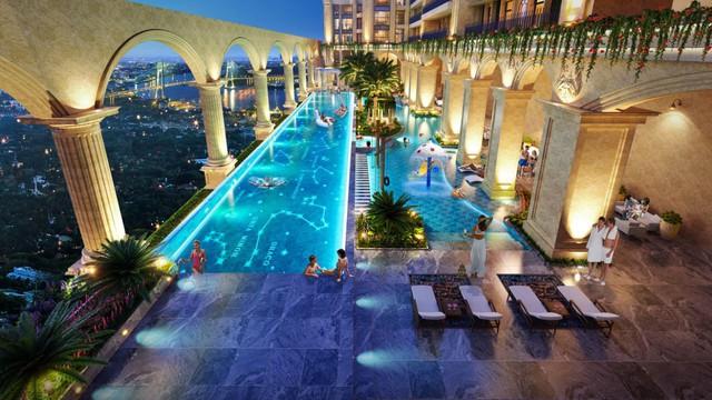 Trải nghiệm resort 5 sao & Vườn La Mã trên không tại Thủ Thiêm - Ảnh 1.