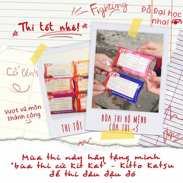 Trào lưu hot của sĩ tử trước kỳ thi: Sưu tập đủ bộ Kit Kat để vượt vũ môn với điểm cao chót vót! - Ảnh 1.