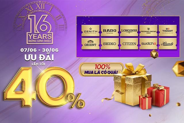 Hơn 30 thương hiệu đồng hồ thế giới được ưu đãi lớn cùng ngàn quà tặng khi mua hàng - Ảnh 1.