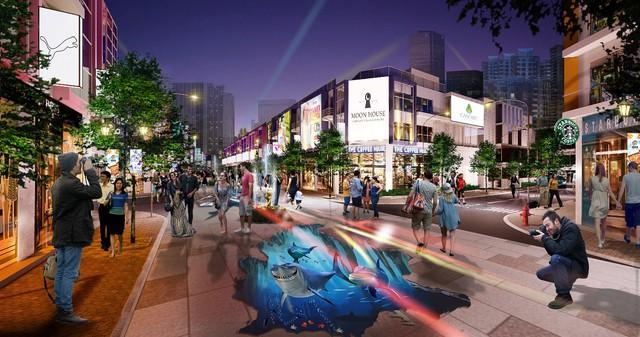 Sắp xuất hiện phố đi bộ 3D, với hàng trăm cửa hàng mua sắm, ẩm thực tại Phú Mỹ - Ảnh 1.