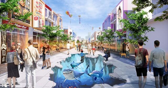 Sắp xuất hiện phố đi bộ 3D, với hàng trăm cửa hàng mua sắm, ẩm thực tại Phú Mỹ - Ảnh 2.