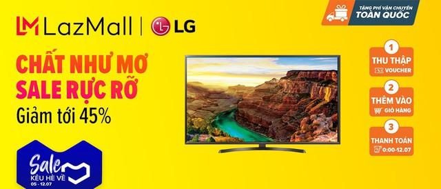 """LG giảm giá nhiều sản phẩm lên đến 45% trong lễ hội mua sắm """"Sale Kêu Hè Về"""" ngày 12/07 trên Lazada - Ảnh 6."""