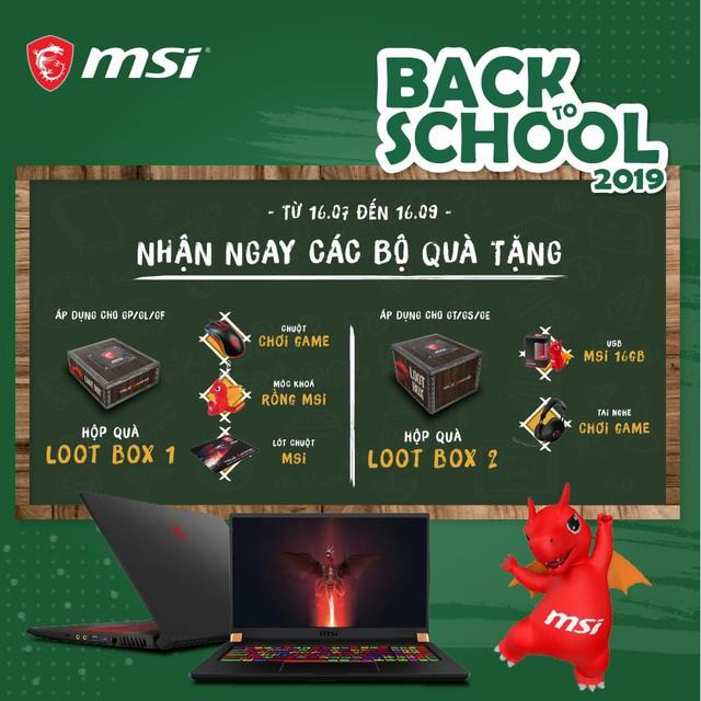Tưng bừng mùa tựu trường với quà tặng hấp dẫn khi mua sản phẩm máy tính xách tay MSI - Ảnh 1.